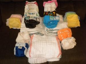 Newborn diaper stash!
