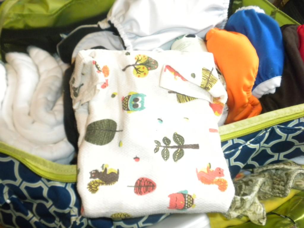 Imagine flat, diaper bag fold.